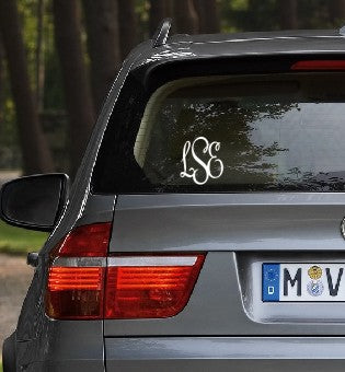 Monogrammed Decals-  French Script