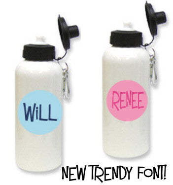 Monogrammed Water Bottles! in Our Trendy Font !
