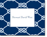 Nautical Knot Navy personalized stationery