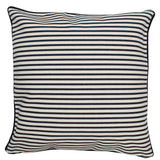 Canvas Pillow Cover 12 x 12 Navy Stripes