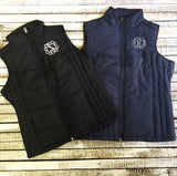 Monogrammed Quilted Vest Custom Colors