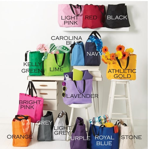 Design Your Own Light Weight Tote Bag- Choose Your Color