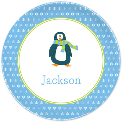 Set of 2 Personalized Plate Penguin