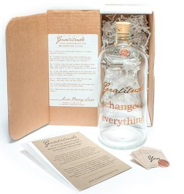 Gratitude Changes Everything apothecary jar