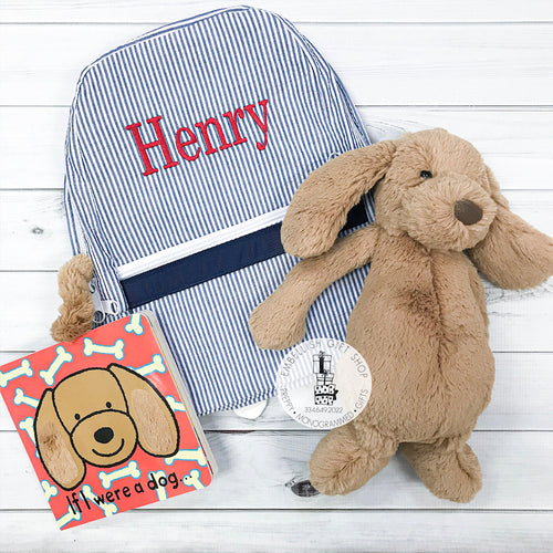 Baby Puppy Gift Set Backpack & Book