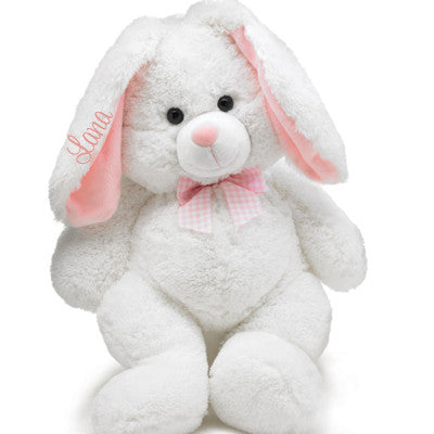 Large White Plush Bunny