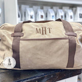 Personalized Cotton Canvas Duffel Bag