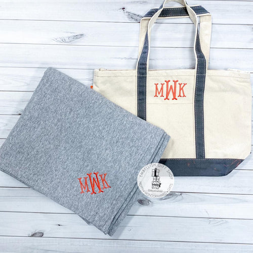 Personalized Tote Bag & Sweatshirt Blanket