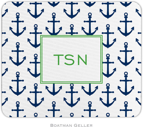Anchors Navy Personalized Mousepad
