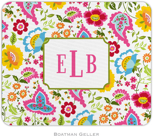 Bright Floral Personalized Mousepad