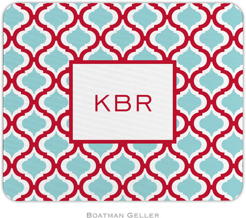 Kate Red & Teal Personalized Mousepad