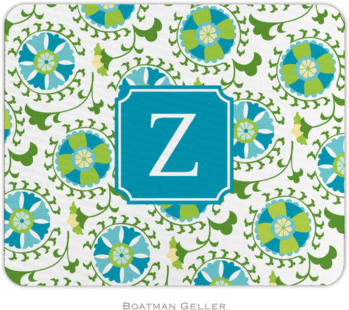 Suzani Teal Personalized Mousepad