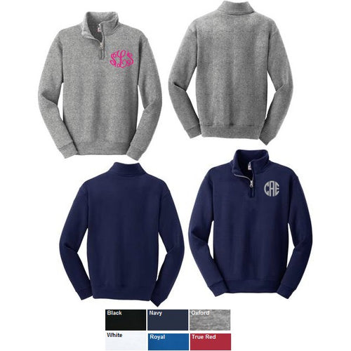 Kids Unisex Personalized  Fleece 1/4 Zip Sweatshirt