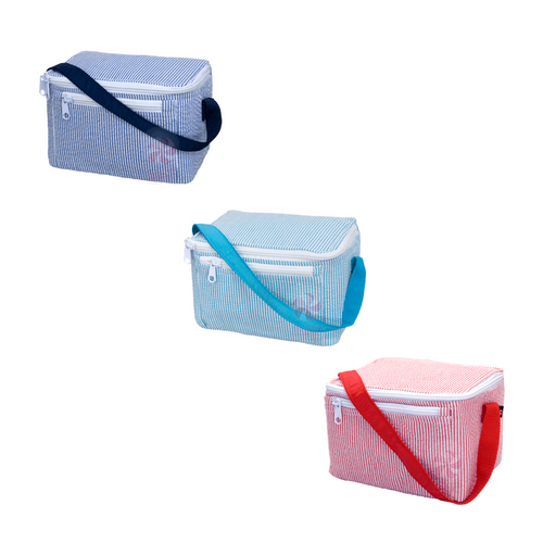 Seersucker Personalized Lunch Box-Choose Color