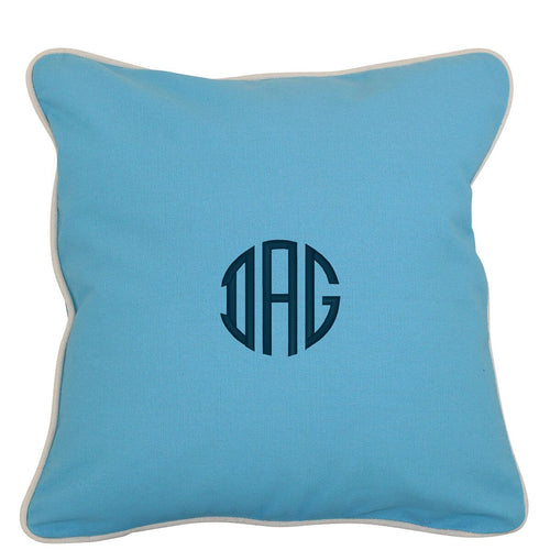 Pillow Cover 16 x 16 Choose Color with Monogram