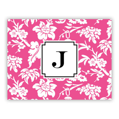 Folded Note Cards Anna Floral Raspberry