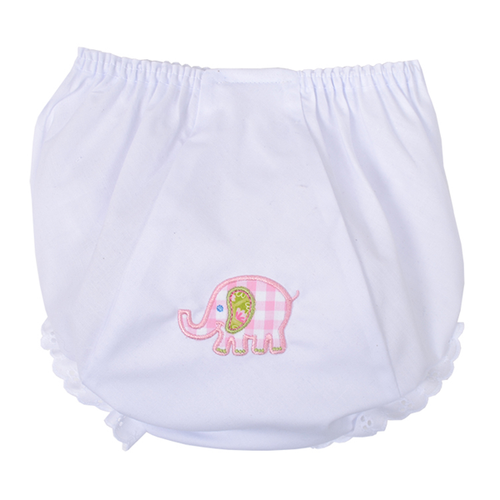 Personalized Pink Pastel Elephant Bloomers 3/6 Months