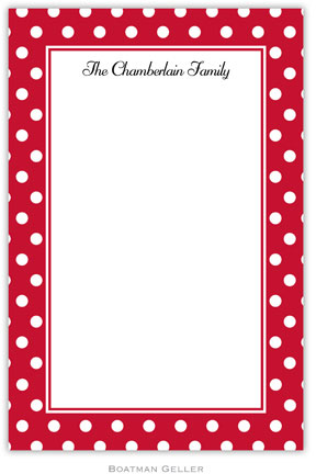 Polka Dot Cherry notepad