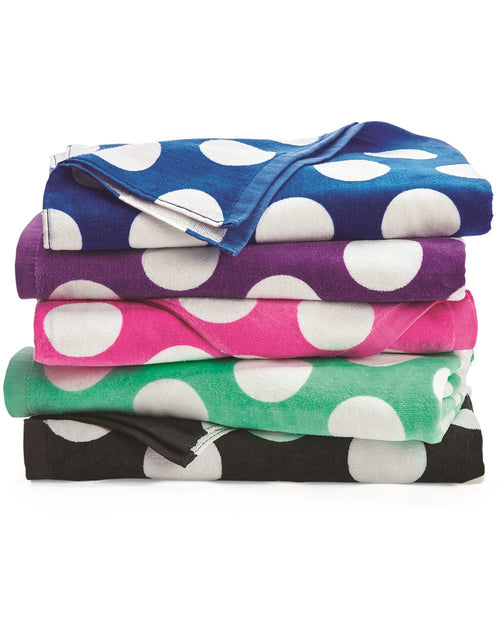 Bright Polka Dot Monogrammed Beach Towels