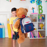 Shark Preschool Backpack with single initial