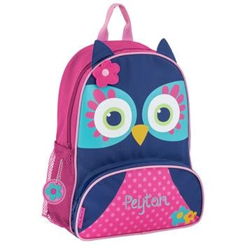 Personalized Sidekick Backpack Teal Owl