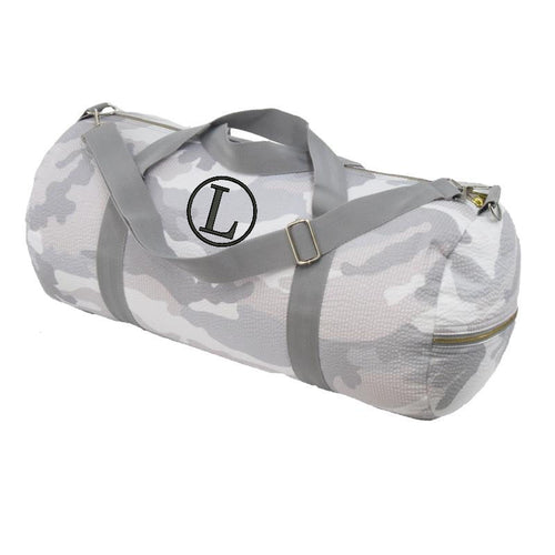 Personalized Weekender Seersucker Duffel