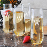 8.5 oz. Stemless Champagne Flutes (Set of 4)