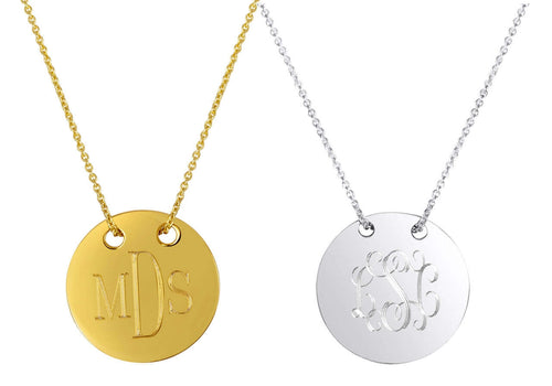 Sycamore Monogrammed Necklace with Chain