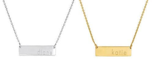 The Dillon Personalized Necklace with Chain