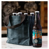 Lifestyle Waxed Canvas 6 Pack Beer Bottle Carrier Choose Color