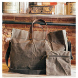 Waxed Canvas Advantage Utility Tote with Inner Zip Pouch