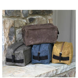 Personalized Canvas Waxed Plastic Lined Travel Kit Choose Color