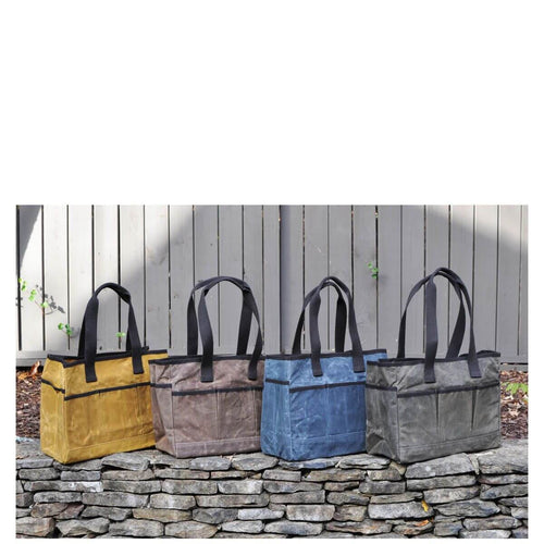 Waxed Canvas Personalized Utility Tote-Choose Color