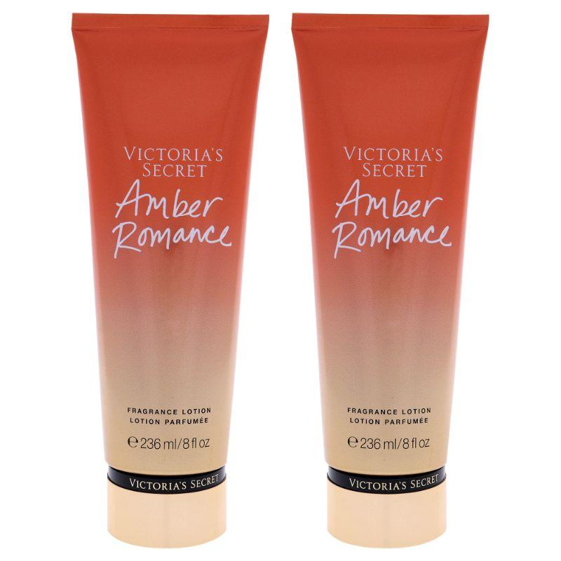 Amber Romance Fragrance Lotion by Victorias Secret for Women - 8 oz Body Lotion - 2 Pack - SWANBOUTIQ