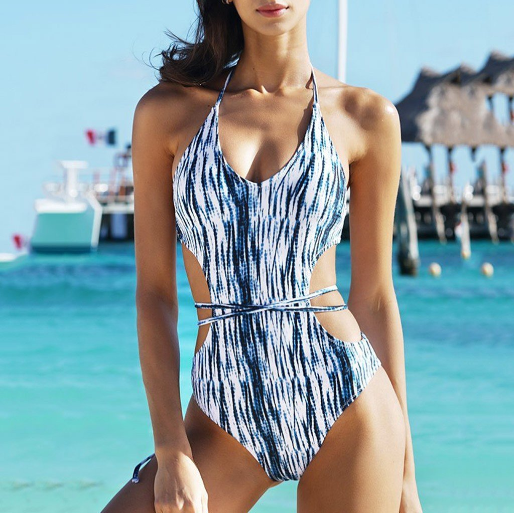 Apex Side Cut Out One Piece Swimsuit - SWANBOUTIQ