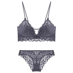 Push Up Embroidery Bra & Brief Sets - SWANBOUTIQ