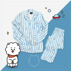 Cartoon Shirt Pajamas Sleepwear Set - SWANBOUTIQ