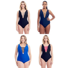 Load image into Gallery viewer, Cover Girl Women's Lace Up One-Piece Swimsuit - SWANBOUTIQ