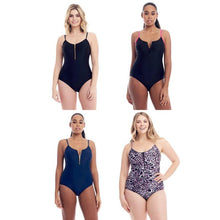 Load image into Gallery viewer, Cover Girl Women's One-Piece Swimsuit with Zip Up Front - SWANBOUTIQ