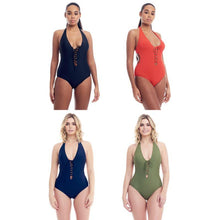 Load image into Gallery viewer, Cover Girl Women's Sohp's Lace-Up design One-Piece Swimsuit - SWANBOUTIQ
