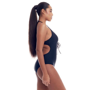 Cover Girl Women's Sohp's Lace-Up design One-Piece Swimsuit - SWANBOUTIQ