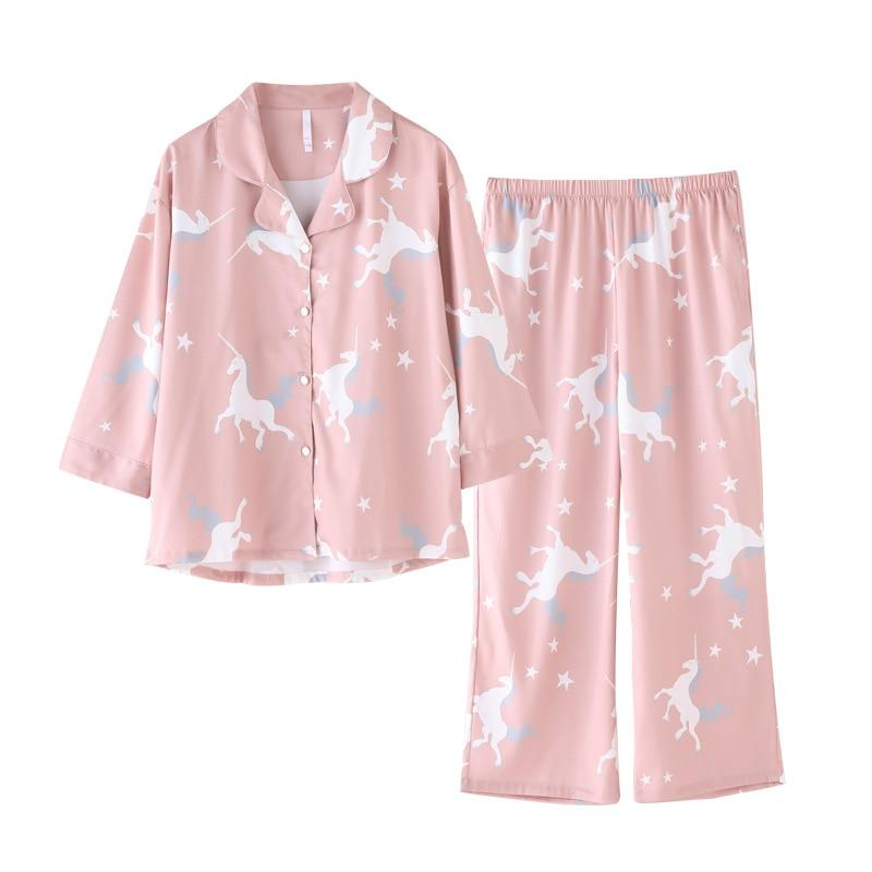 Faux Silk Pyjamas set - SWANBOUTIQ
