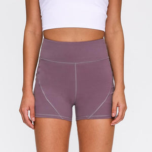 Fitness Yoga Shorts with Two Side Pocket - SWANBOUTIQ