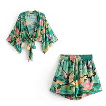 Load image into Gallery viewer, Floral Beach Top & Short Sets - SWANBOUTIQ