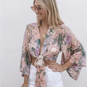 Floral Beach Top & Short Sets - SWANBOUTIQ