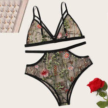 Load image into Gallery viewer, Floral Embroidery Lace Bra Sets - SWANBOUTIQ