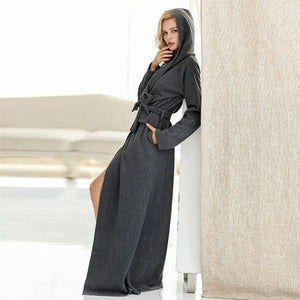 Long Dressing Robe - SWANBOUTIQ