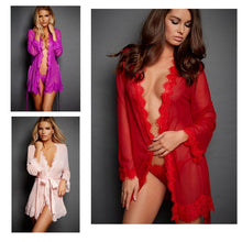 Load image into Gallery viewer, Sexy Mesh Lace Kimono Lingerie - SWANBOUTIQ