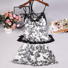Load image into Gallery viewer, Lace Nightwear Lingerie & Short Sets - SWANBOUTIQ