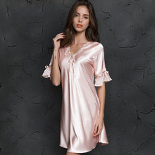 Load image into Gallery viewer, V-Neck Nightwear Lingerie - SWANBOUTIQ